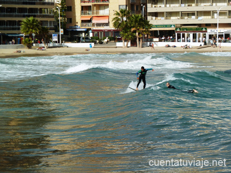 Surfeando en Finestrat